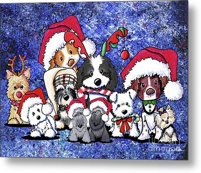 Kiniart Christmas Party Metal Print by Kim Niles