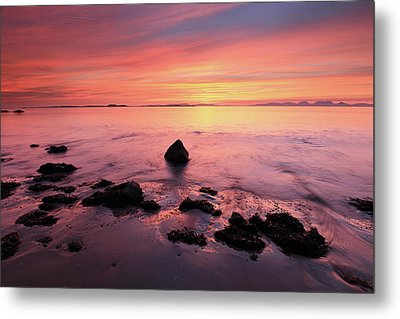 Metal Print featuring the photograph Kintyre Rocky Sunset by Grant Glendinning