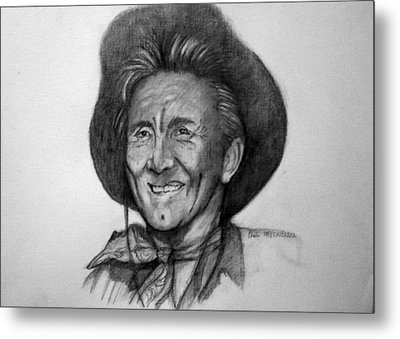 Kirk  Douglas Metal Print by Paul Weerasekera