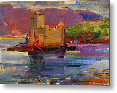 Kisimul Castle And Vatersay Metal Print by Peter Graham
