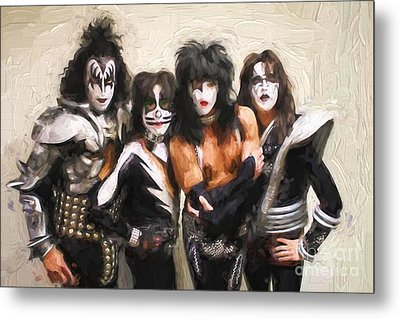 Kiss Band Metal Print