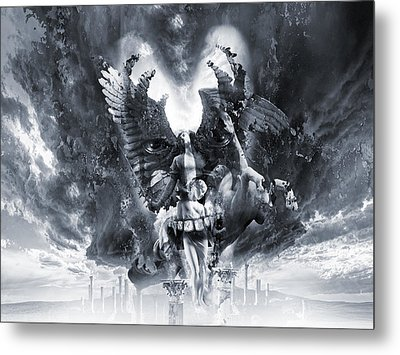 Kiss Of Eros Or Angels And Demons Metal Print