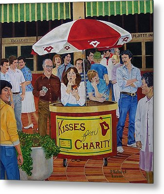 Kisses For Charity Metal Print by Michael Lewis