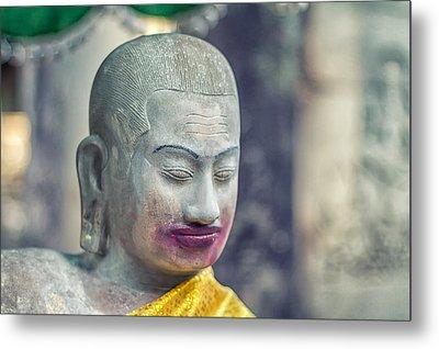 Kissing Buddha Angkor Wat  Metal Print by Stelios Kleanthous