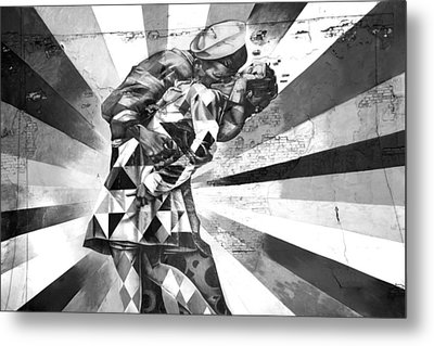 Kissing Sailor Metal Print by Az Jackson