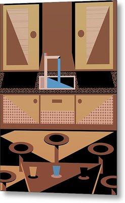 Kitchen Metal Print by Benjamin Gottwald