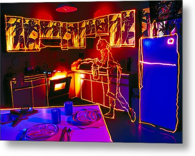 Kitchen Fire Metal Print by Garry Gay
