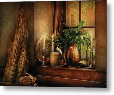 Kitchen - One Fine Evening Metal Print by Mike Savad
