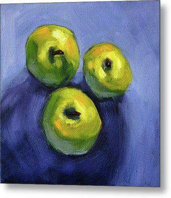 Metal Print featuring the painting Kitchen Pears Still Life by Nancy Merkle