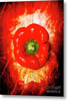 Kitchen Red Pepper Art Metal Print