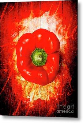 Kitchen Red Pepper Art Metal Print by Jorgo Photography - Wall Art Gallery