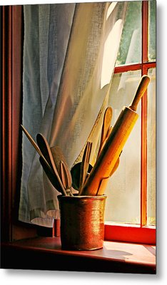 Kitchen Utensils - Window Metal Print by Nikolyn McDonald