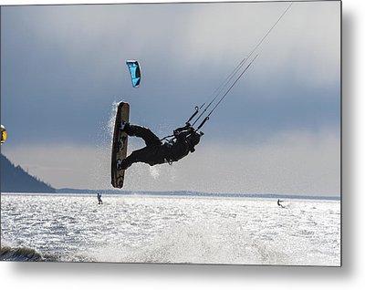 Kite Boarders On Turnagain Arm Metal Print