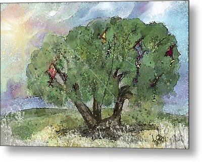 Kite Eating Tree Metal Print by Annette Berglund