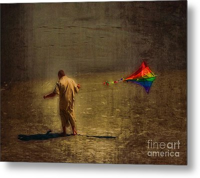 Kite Flying As Therapy Metal Print