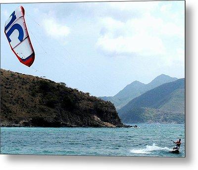 Kite Surfer St Kitts Metal Print