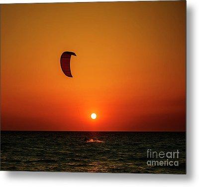 Kite Surfing Metal Print