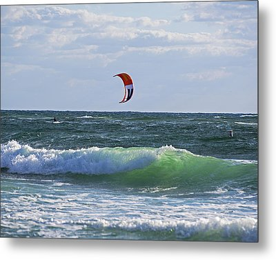 Kiteboards On Pompano Beach Florida Metal Print by Toby McGuire