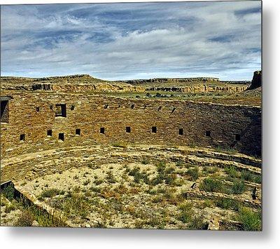 Metal Print featuring the photograph Kiva View Chaco Canyon by Kurt Van Wagner