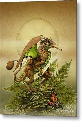 Metal Print featuring the digital art Kiwi Dragon by Stanley Morrison