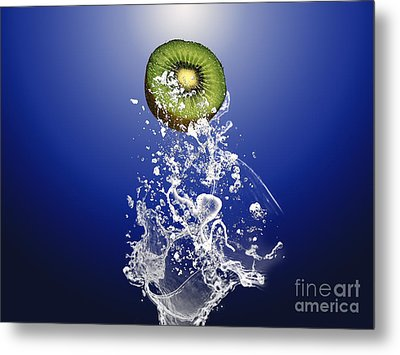 Kiwi Splash Metal Print