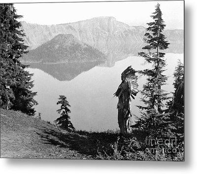 Klamath Chief, C1923 Metal Print