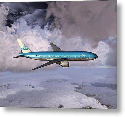 Klm Boeing 777 Metal Print