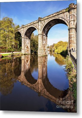 Metal Print featuring the photograph Knaresborough Viaduct, North Yorkshire by Colin and Linda McKie