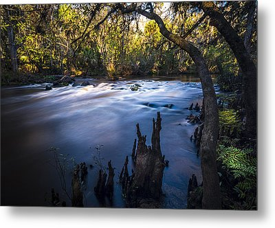 Knees In The Rapids Metal Print by Marvin Spates