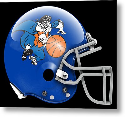 Knicks What If Its Football 2 Metal Print by Joe Hamilton