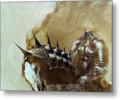 Knight 1 Metal Print by Valeriy Mavlo