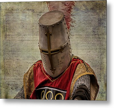 Metal Print featuring the photograph Knight In Armor by Mary Hone