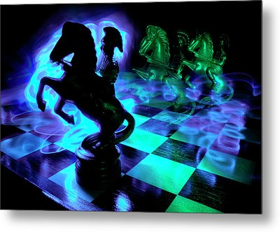 Knight Moves Metal Print by Barbara  White