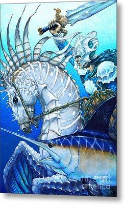 Knight Of Swords Metal Print
