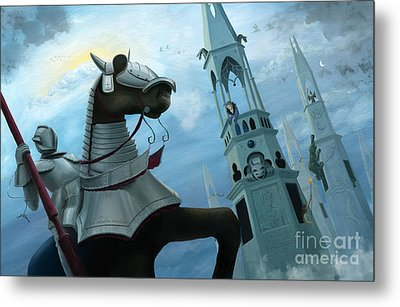Knight Time Metal Print by Denise M Cassano