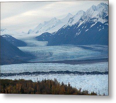 Knik Glacier Metal Print by Adam Owen