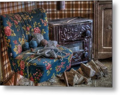 Knitting Corner  Metal Print