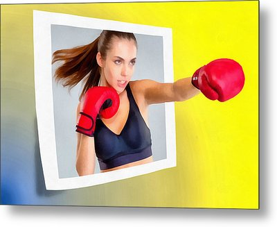 Knockout Metal Print by Anthony Caruso