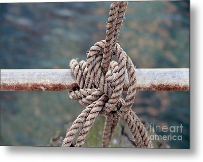 Metal Print featuring the photograph Knot Of My Warf by Stephen Mitchell