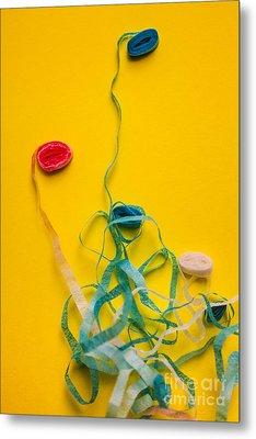 Knots And Birthday Tangles Metal Print