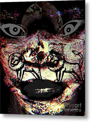 Knowing Darkness Metal Print by Fania Simon