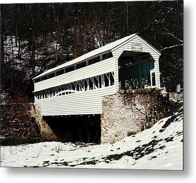 Knox Covered Bridge Historical Place Metal Print