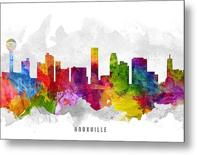 Knoxville Tennessee Cityscape 13 Metal Print by Aged Pixel