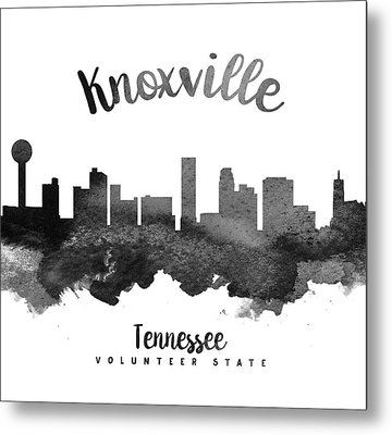 Knoxville Tennessee Skyline 18 Metal Print by Aged Pixel