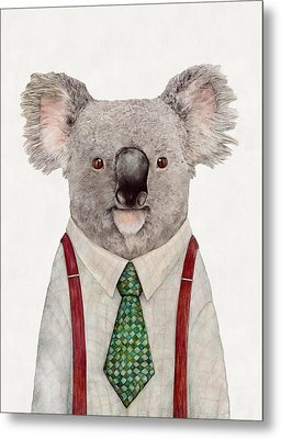Koala Metal Print by Animal Crew