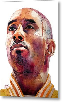 Kobe Bryant Lakers Final Game Metal Print