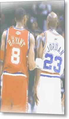 Kobe Bryant Michael Jordan 2 Metal Print by Joe Hamilton