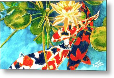 Koi Fish #104 Metal Print by Donald k Hall