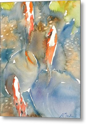 Koi Fish No.9 16x20 Metal Print by Sumiyo Toribe