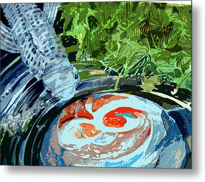 Koi Garden Metal Print by Mindy Newman